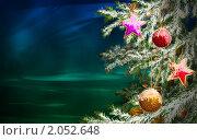 Новогодний фон. Стоковая иллюстрация, иллюстратор Дмитрий Хрусталев / Фотобанк Лори
