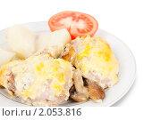 Купить «Жареная курица с грибами», фото № 2053816, снято 24 марта 2010 г. (c) Яков Филимонов / Фотобанк Лори