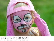 Купить «Аквагрим: розовый кролик», фото № 2059624, снято 18 июля 2010 г. (c) Юлия Шилова / Фотобанк Лори