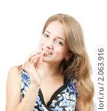 Купить «Портрет светловолосой девушки», фото № 2063916, снято 30 сентября 2009 г. (c) Яков Филимонов / Фотобанк Лори