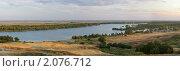 Панорама, хутор Ведерники, вид на реку Дон. Стоковое фото, фотограф Yury Ivanov / Фотобанк Лори