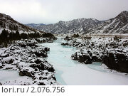 Купить «Долина Катуни в феврале», фото № 2076756, снято 21 февраля 2010 г. (c) Евгений Свитайло / Фотобанк Лори
