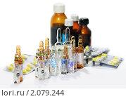 Купить «Медицинские препараты. Задний план не в фокусе.», эксклюзивное фото № 2079244, снято 23 октября 2010 г. (c) Александр Павлов / Фотобанк Лори