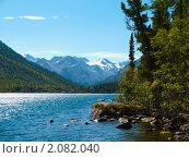 Купить «Алтай. Озеро Нижнее Мультинское», фото № 2082040, снято 21 августа 2010 г. (c) Andrey M / Фотобанк Лори