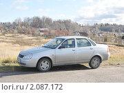 Купить «Лада Приора  ( Lada ВАЗ 2170 Priora )», эксклюзивное фото № 2087172, снято 23 октября 2010 г. (c) stargal / Фотобанк Лори