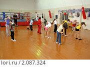 Купить «Урок физкультуры в начальной школе», эксклюзивное фото № 2087324, снято 16 сентября 2010 г. (c) Вячеслав Палес / Фотобанк Лори