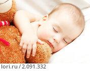 Купить «Спящий младенец», фото № 2091332, снято 16 октября 2010 г. (c) Екатерина Тарасенкова / Фотобанк Лори