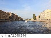 Купить «Санкт-Петербург. Река Фонтанка. Вид на Измайловский мост.», эксклюзивное фото № 2098344, снято 21 июня 2010 г. (c) Ольга Липунова / Фотобанк Лори