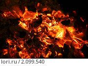 Пылающие угли. Стоковое фото, фотограф Сергей Ксенофонтов / Фотобанк Лори