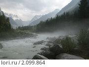 Река Караугом Осетия. Стоковое фото, фотограф Судаков Валентин / Фотобанк Лори