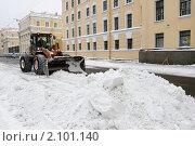 Купить «Санкт-Петербург, снегоуборочная техника зимой в городе», эксклюзивное фото № 2101140, снято 22 февраля 2010 г. (c) Дмитрий Неумоин / Фотобанк Лори