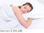 Купить «Спящая девушка», фото № 2101240, снято 21 октября 2009 г. (c) Валуа Виталий / Фотобанк Лори