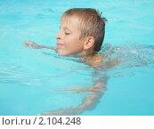 Плавающий мальчик. Стоковое фото, фотограф Сметанова Наталия / Фотобанк Лори