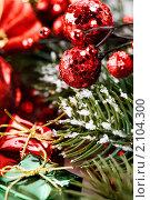 Купить «Новогодняя композиция», фото № 2104300, снято 22 октября 2010 г. (c) Наталия Кленова / Фотобанк Лори