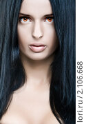 Купить «Девушка-вампир», фото № 2106668, снято 15 сентября 2009 г. (c) Вероника Галкина / Фотобанк Лори