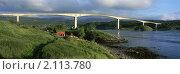 Панорама моста через реку. Стоковое фото, фотограф Leksele / Фотобанк Лори