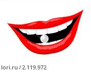 Белоснежная улыбка. Стоковая иллюстрация, иллюстратор Мозымов Александр / Фотобанк Лори