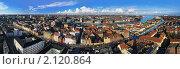 Купить «Большая панорама Копенгагена, Дания», фото № 2120864, снято 7 ноября 2010 г. (c) Михаил Марковский / Фотобанк Лори