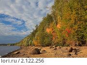 Осенний пейзаж. Волжский берег. Стоковое фото, фотограф Дмитрий Земсков / Фотобанк Лори