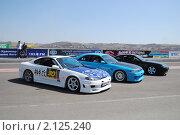 Купить «Три спортивных автомобиля», фото № 2125240, снято 23 мая 2010 г. (c) Юрий Андреев / Фотобанк Лори