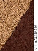 Купить «Кофе молотый и кофе в зернах», фото № 2129716, снято 7 ноября 2010 г. (c) Татьяна Белова / Фотобанк Лори