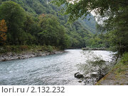 Горная река. Стоковое фото, фотограф Еремин Владимир / Фотобанк Лори