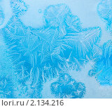 Ледяной узор на замороженном окне. Стоковое фото, фотограф Кардашева Ирина Александровна / Фотобанк Лори