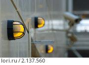 Купить «Лампы и камера наблюдения», фото № 2137560, снято 19 августа 2009 г. (c) Иванова Марина / Фотобанк Лори