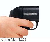 """Купить «Пистолет """"Оса"""" в руке человека», эксклюзивное фото № 2141228, снято 6 ноября 2010 г. (c) Евгений Ткачёв / Фотобанк Лори"""