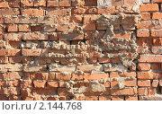 Купить «Старая кирпичная стена», фото № 2144768, снято 29 октября 2010 г. (c) Фотограф / Фотобанк Лори
