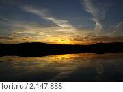 Закат на озере. Стоковое фото, фотограф Гаушкина Ирина Борисовна / Фотобанк Лори
