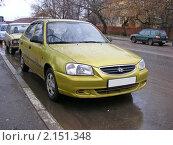 Купить «Автомобиль  Hyundai (Корея)», эксклюзивное фото № 2151348, снято 20 ноября 2010 г. (c) lana1501 / Фотобанк Лори