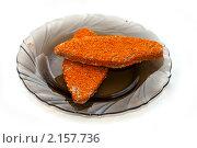 Купить «Рыбный полуфабрикат на тарелке», фото № 2157736, снято 23 ноября 2010 г. (c) Куликова Вероника / Фотобанк Лори