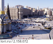 Купить «Новогодний Крещатик. Киев.», фото № 2158072, снято 19 января 2019 г. (c) natalya ryzhko / Фотобанк Лори