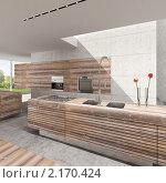 Купить «Кухня в современном стиле», иллюстрация № 2170424 (c) Юрий Бельмесов / Фотобанк Лори