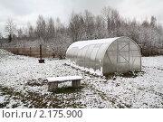 Пластиковая теплица в зимнем саду. Стоковое фото, фотограф Сергей Яковлев / Фотобанк Лори