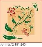 Цветочный узор. Стоковая иллюстрация, иллюстратор Анастасия Машкова / Фотобанк Лори