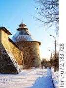Восстановление шатра Покровской башни в Пскове (2010 год). Стоковое фото, фотограф Анатолий Баранов / Фотобанк Лори