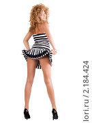 Купить «Сексуальная девушка в коротком платье», фото № 2184424, снято 1 сентября 2009 г. (c) Сергей Сухоруков / Фотобанк Лори
