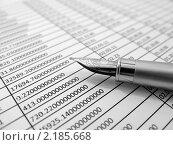 Купить «Таблица расчетов, на подпись», фото № 2185668, снято 21 января 2019 г. (c) Геннадий Соловьев / Фотобанк Лори