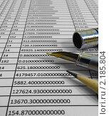 Купить «Таблица расчетов», фото № 2185804, снято 3 апреля 2020 г. (c) Геннадий Соловьев / Фотобанк Лори