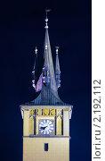 Купить «Шпиль церкви Девы Марии перед Тыном в праздничной подсветке», фото № 2192112, снято 30 сентября 2010 г. (c) Аnna Ivanova / Фотобанк Лори