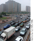 Купить «Пекинская автомобильная пробка», фото № 2195196, снято 17 июля 2009 г. (c) Дмитрий Фиронов / Фотобанк Лори