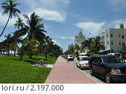 Набережная Ocean Drive, Майами (2008 год). Редакционное фото, фотограф Евгения Фурсова / Фотобанк Лори