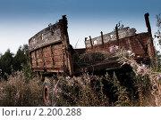 Старый тракторный прицеп. Стоковое фото, фотограф Александр Рыбакин / Фотобанк Лори