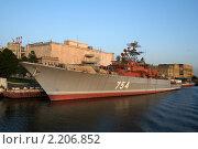 Военный корабль (2009 год). Редакционное фото, фотограф Весенёва Светлана / Фотобанк Лори