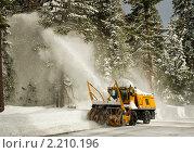 Купить «Снегоуборщик за работой», фото № 2210196, снято 28 ноября 2010 г. (c) Ирина Кожемякина / Фотобанк Лори