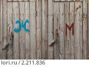 Купить «Туалет во дворе», фото № 2211836, снято 24 сентября 2010 г. (c) Михаил Иванов / Фотобанк Лори