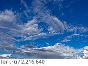 Голубое небо с облаками. Стоковое фото, фотограф Татьяна Метельская / Фотобанк Лори