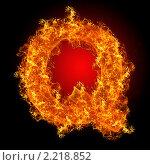Купить «Огненная буква Q», иллюстрация № 2218852 (c) Jan Jack Russo Media / Фотобанк Лори